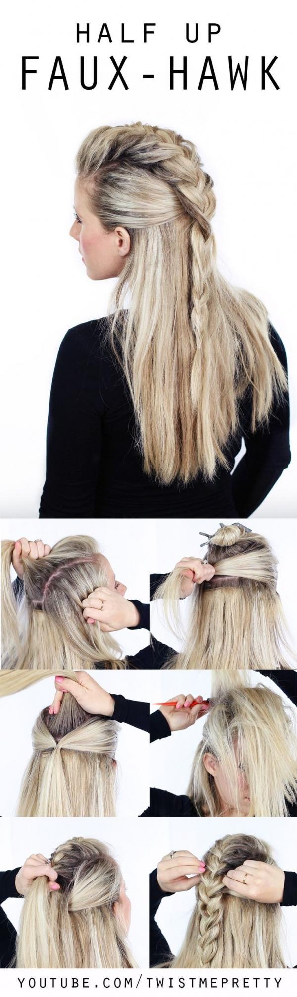 Polu-podignuta pletena frizura