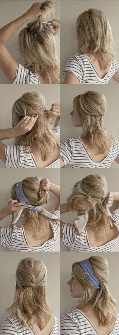 Preslatka frizura sa maramom