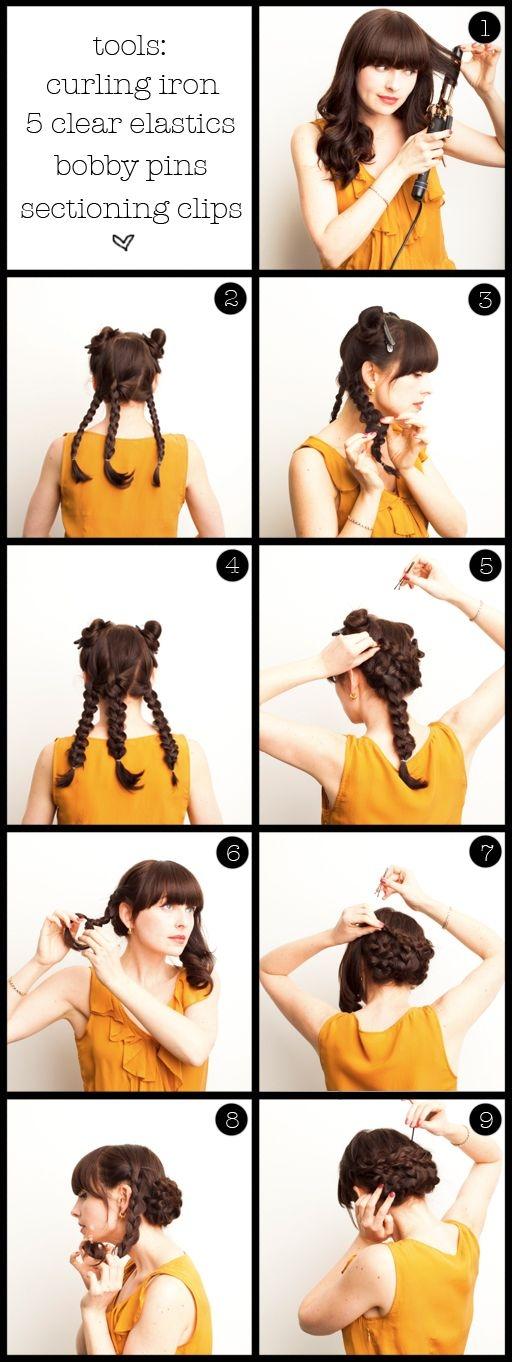 Podignuta frizura sa pletenicama