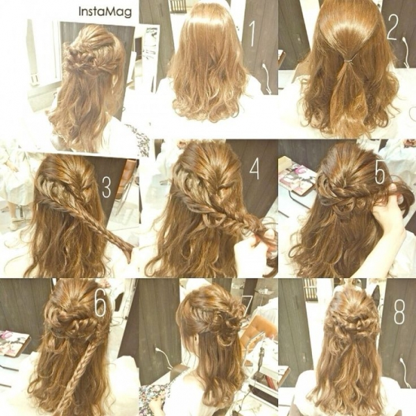 Polu podignuta valovita frizura