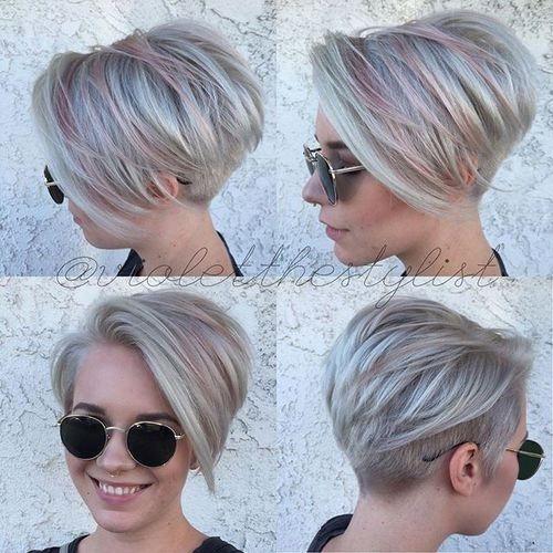 Platinasta asimetriča frizura