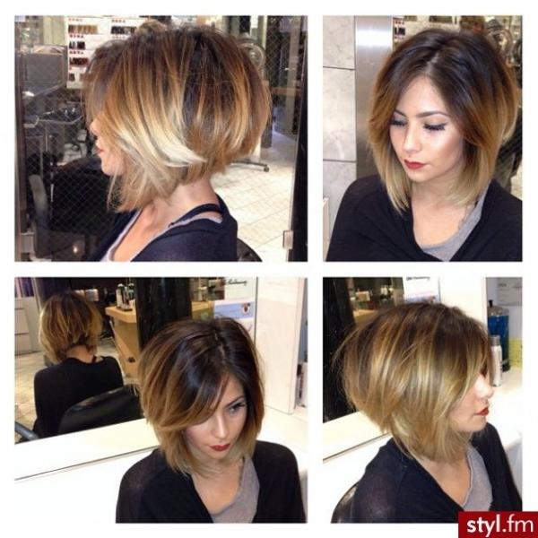 Kratka bob frizura na gustoj kosi
