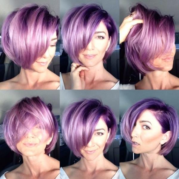 Ljubičasta prekrasna kratka frizura