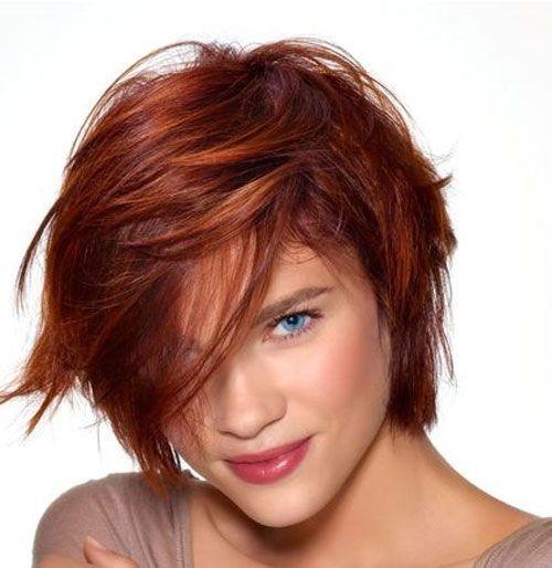Crvena popularna frizura