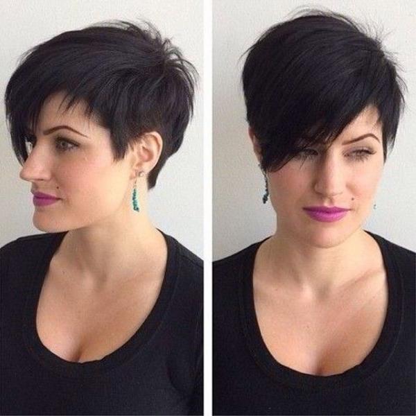 Crna kratka frizura