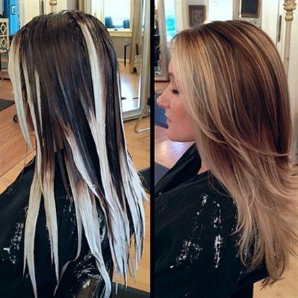 Pramići na smeđoj kosi