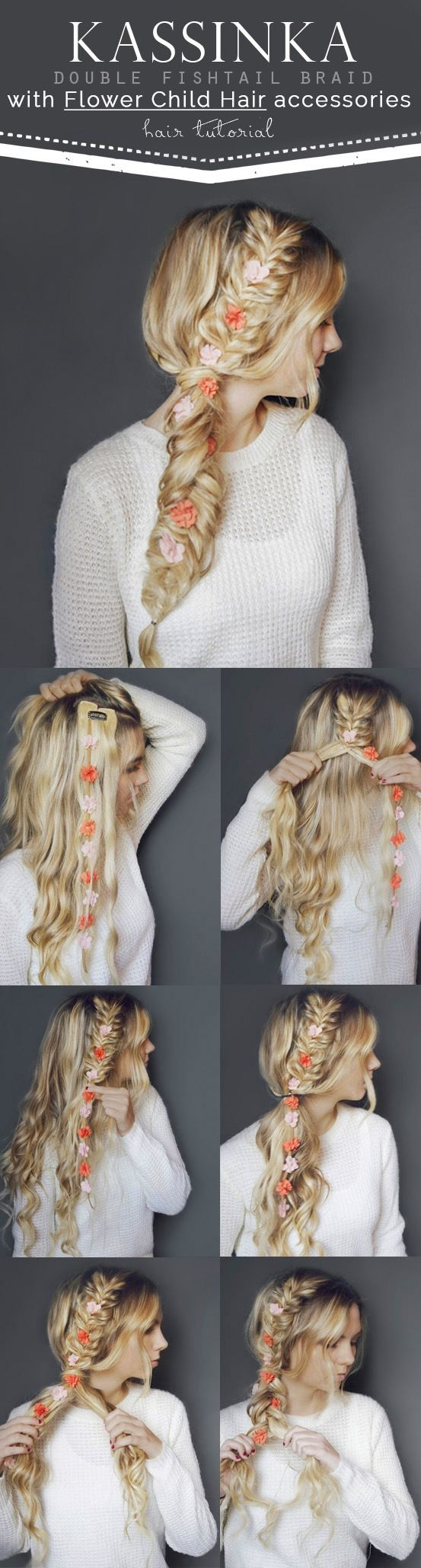 Pletenica sa cvjetovima u kosi