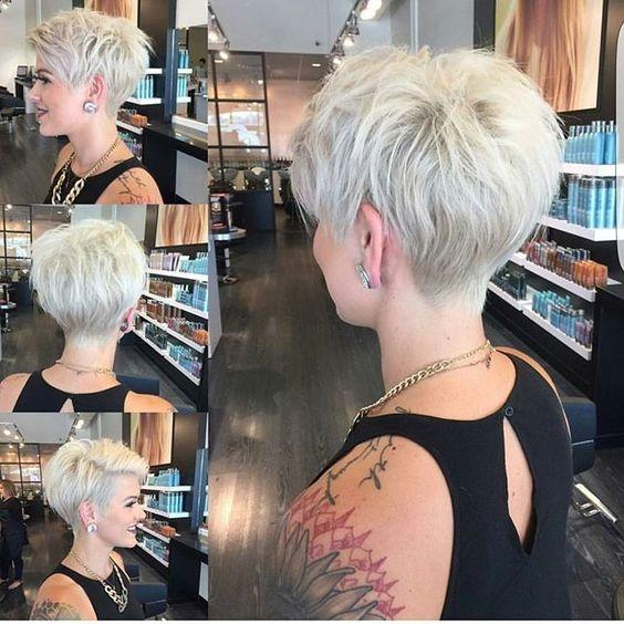 Platinasta pixie frizura