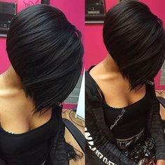Kratka crna bob frizura