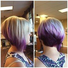 Asimetričana frizura za mlade