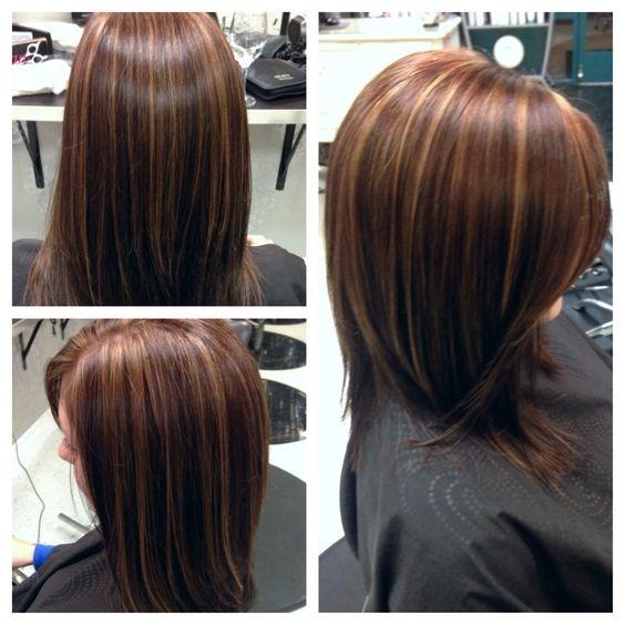 Pramenovi na smeđoj kosi
