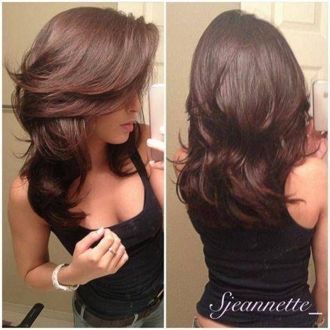 Duga smeđa kosa