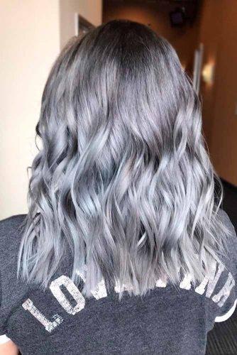 Siva valovita frizura