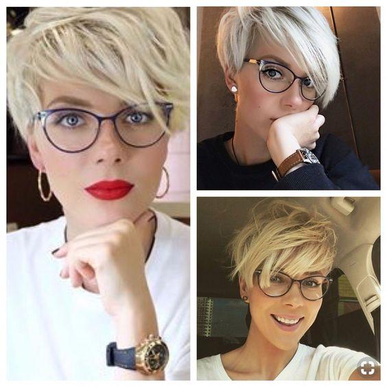 Najseksi  kratka frizura za naočale